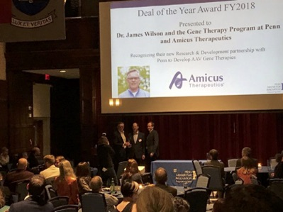 Amicus-UPenn Partnership Named 'Deal Of The Year' By Penn Center For Innovation